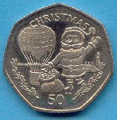 Christmas coin from Gibraltar