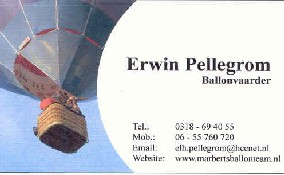 Erwin's business card